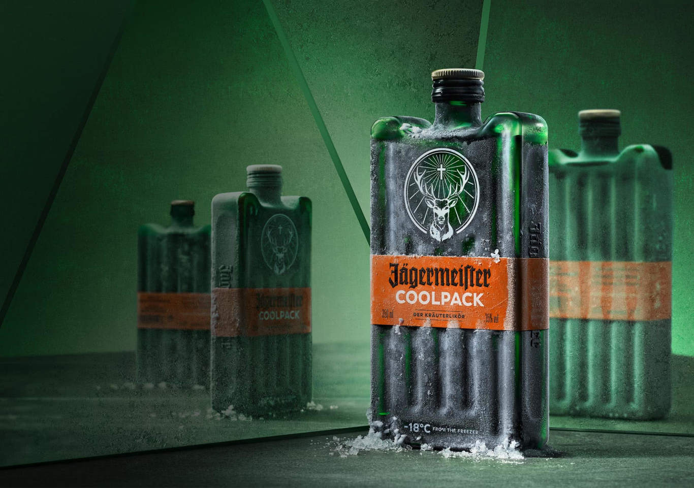 Jägermeister launches ice pack-inspired bottle design photo