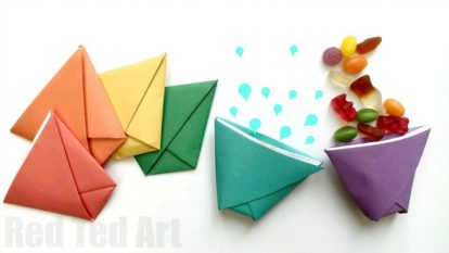 One super simple Origami Cup four fabulous and fun uses 414x233 Unique Types Of Drinking Cups You Can't Ignore