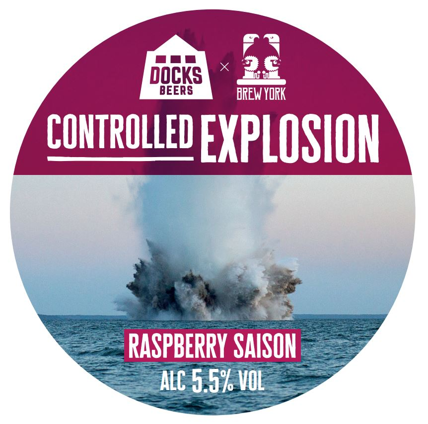 Docks Beers Collaborates With Brew York On Controlled Explosion Raspberry Saison photo