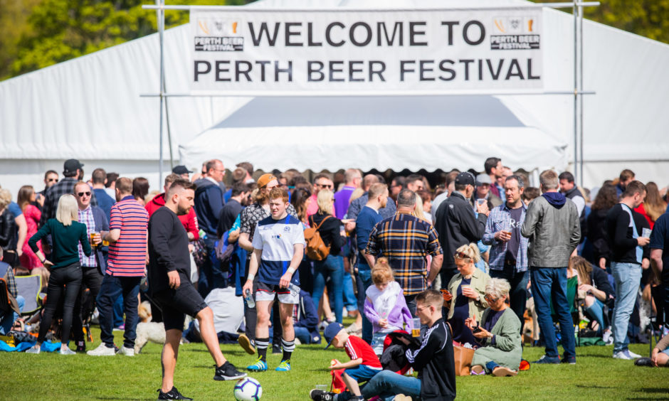 Party-goers Flock To Sunny Beer Festival For Perthshire Rfc's Birthday Celebrations photo