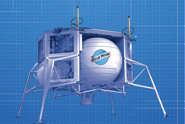 Blue Moon Brewing Is Capitalizing On Bezos? News With A Lunar Lander Keg ? Techcrunch photo