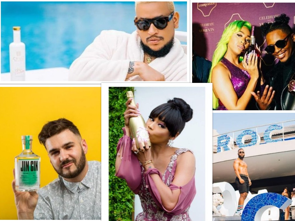 Vodka Wars, Premium Champagne And Colourful Gin ? Sa Celebs Secure The Alcohol Brand Endorsement Bag photo