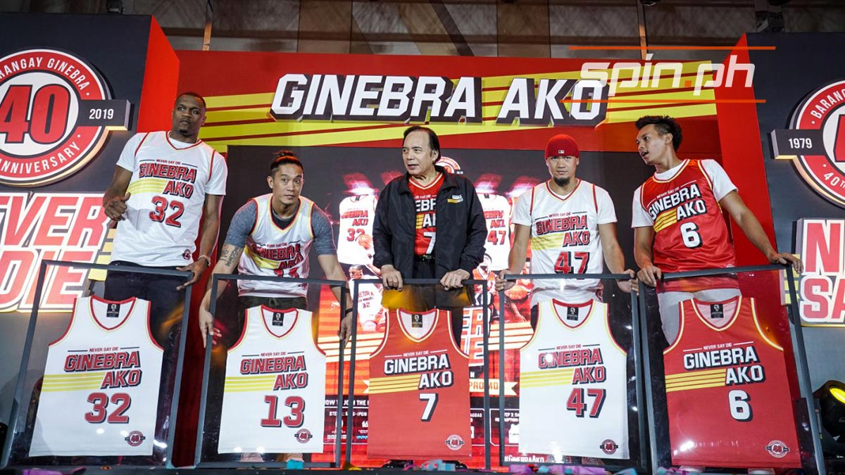 Ginebra Launches Fresh Batch Of Collectible Jerseys To Mark 40th Year In Pba photo