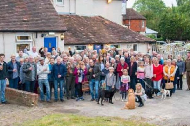 Cocking Villagers Flock To Pop Up Pub Celebration At Blue Bell photo