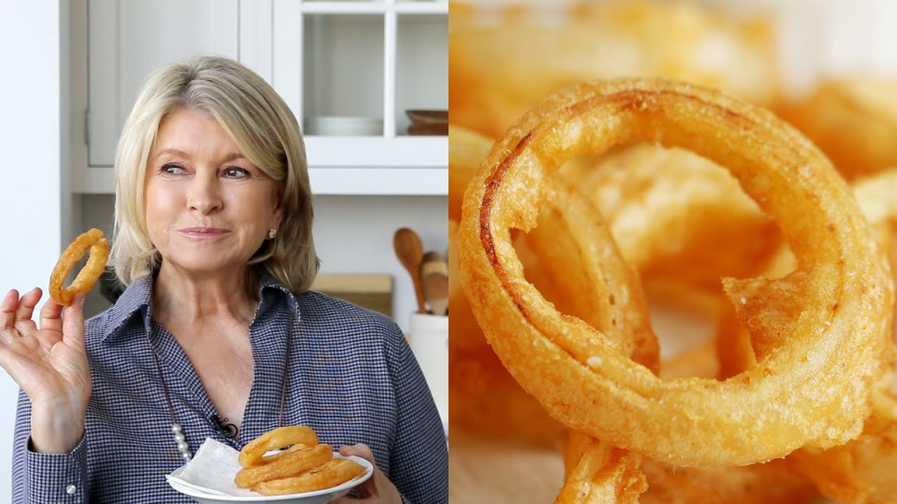 How To Make Heavenly Beer Battered Onion Rings Like Martha Stewart photo
