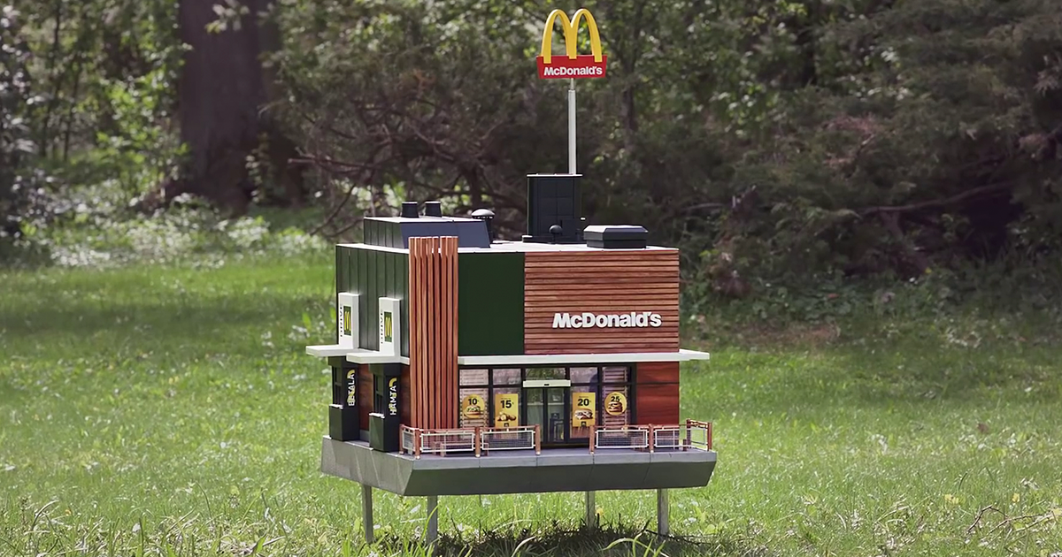 Mcdonalds Opens A Tiny Restaurant For Bees photo
