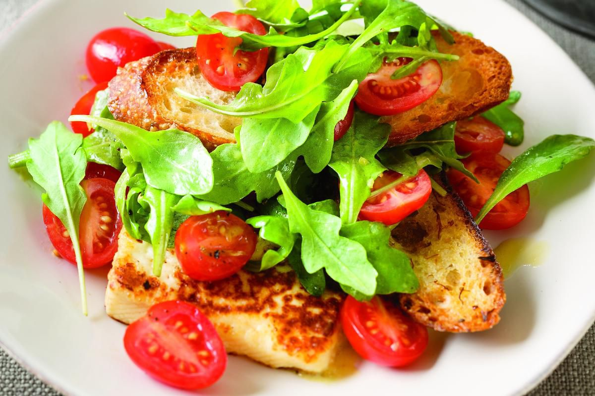 Garlic Scapes? Oh Yes, And Grilled Cheese Salad, Please photo