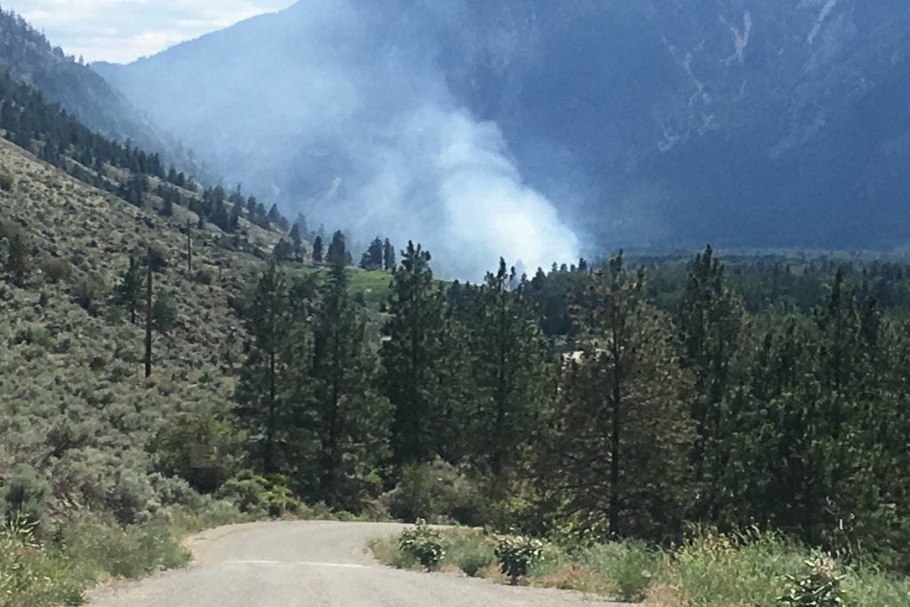Update: Video Of The Bush Fire At Forbidden Fruit Winery In Similkameen Valley photo
