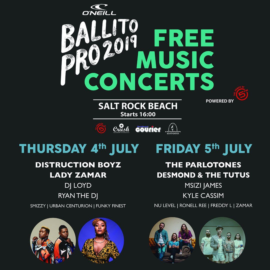 Distruction Boyz, Lady Zamar And Desmond & The Tutus To Perform At Ballito Pro 2019 photo