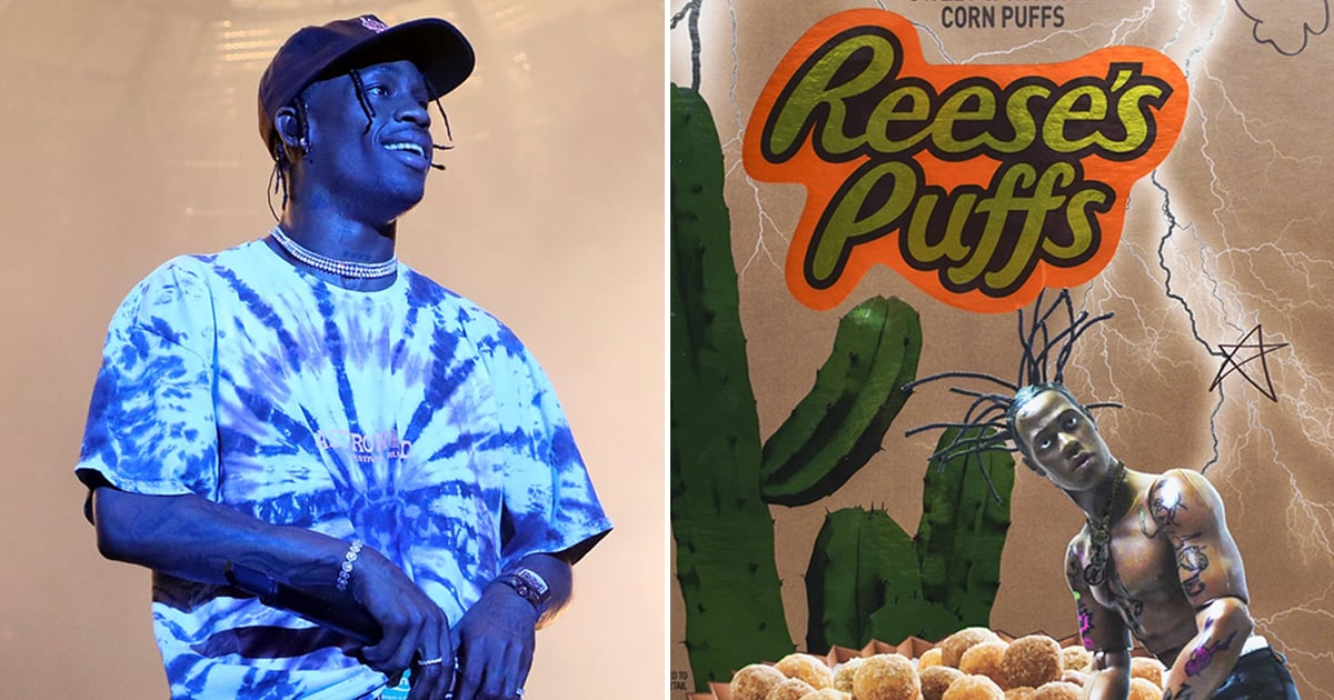 Yes, That Is A Shirtless Travis Scott On A Box Of Reese's Puffs photo