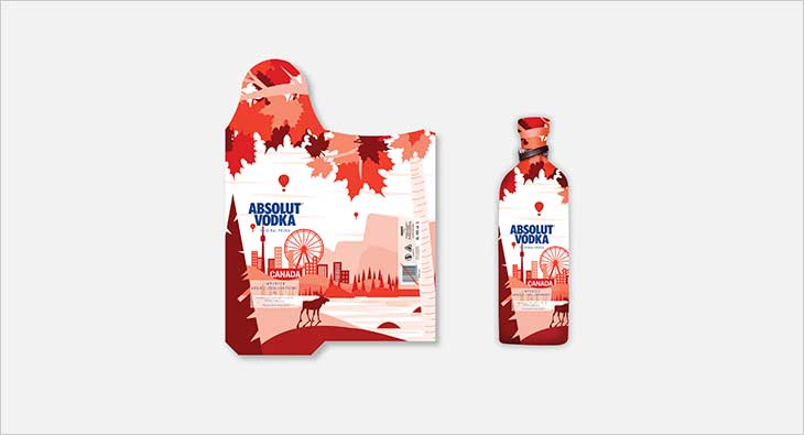 Graphixstory Wins Creative Challenge To Design Limited Edition Absolut Vodka Bottle Bags photo