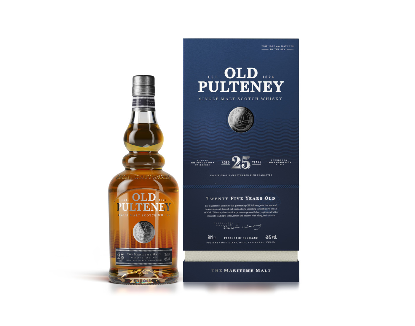 Old Pulteney Celebrates Final Addition To New Core Range With Launch Of 25-years-old photo