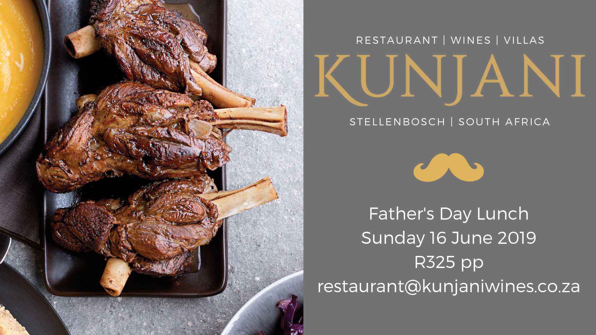 Father's Day Culinary Escape to Kunjani photo