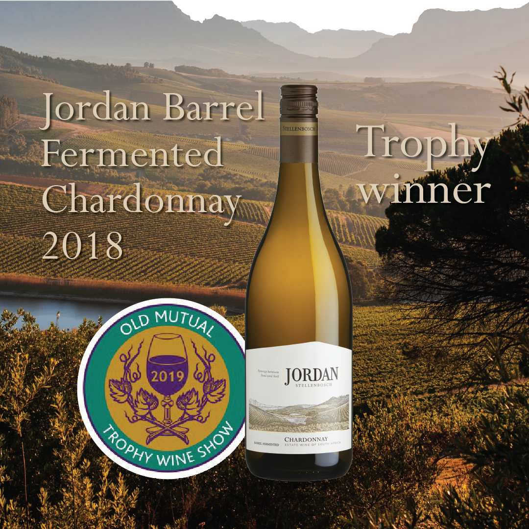 Best Chardonnay Trophy for Jordan at Old Mutual Wine Show photo