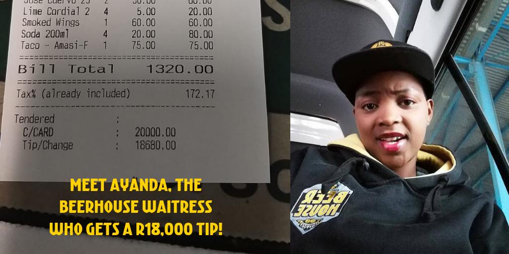 Customer Tips BeerHouse Fourways Waiter R18000 photo