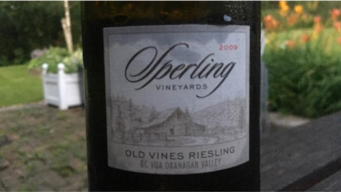 Kelowna's Sperling Vineyards Wins Gold For Riesling photo