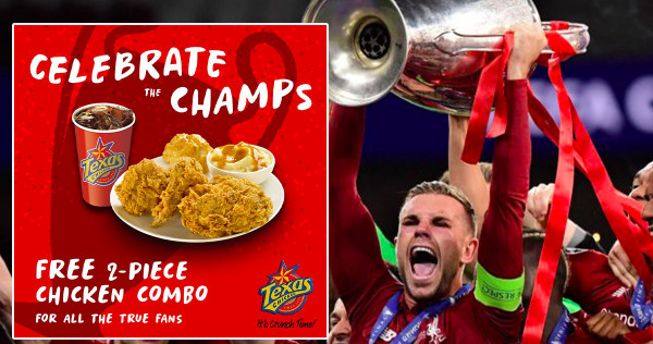 Good Deals Must Share June 3-9: Free Texas Chicken, Casuarina Chicken Briyani And Bak Chor Mee For Liverpool Fans , photo