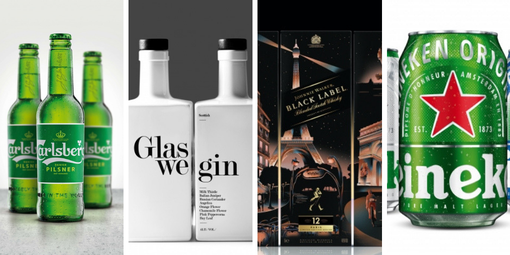 Refreshing Drinks Packaging: Johnnie Walker, Glaswegin, Heineken And Carlsberg photo