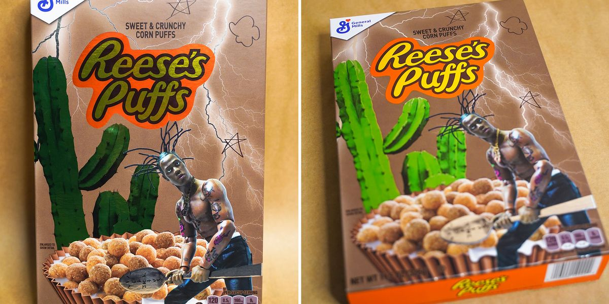 You Can Buy A Box Of Reese's Puffs Designed By Travis Scott For $50 photo