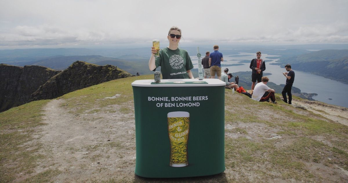 A Beer Company Opened A Pop Up Bar At The Summit Of Ben Lomond Today photo