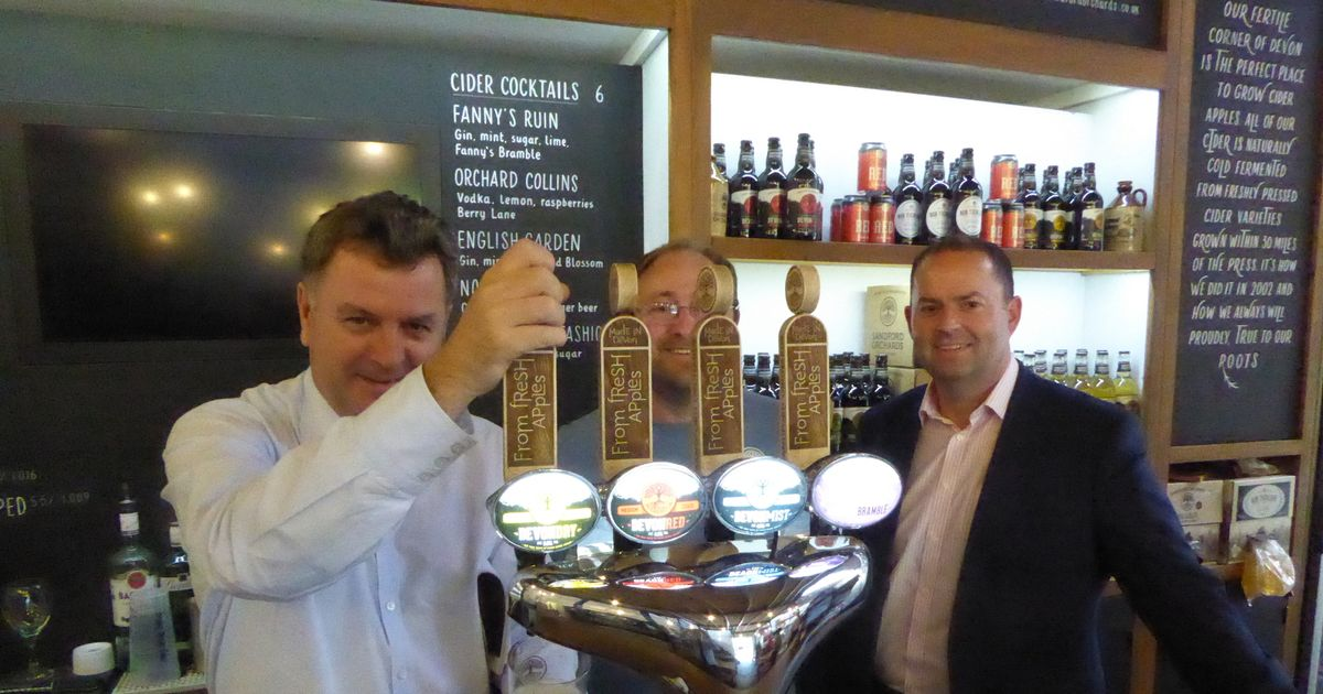 Mp Lobbied On Taxation On Visit To Sandford Orchards Cider Works photo