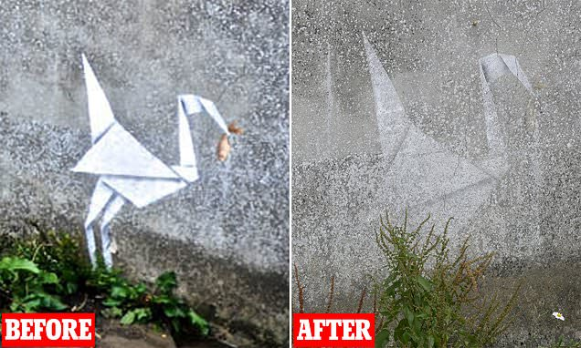 Brewery Left Counting The Cost After Allowing Banksy Artwork To Fade photo