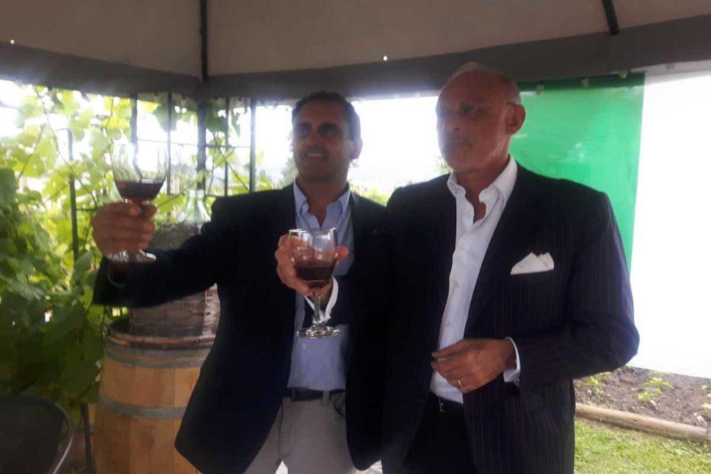 The Italian Ambassador Sips Wine In West Kelowna photo