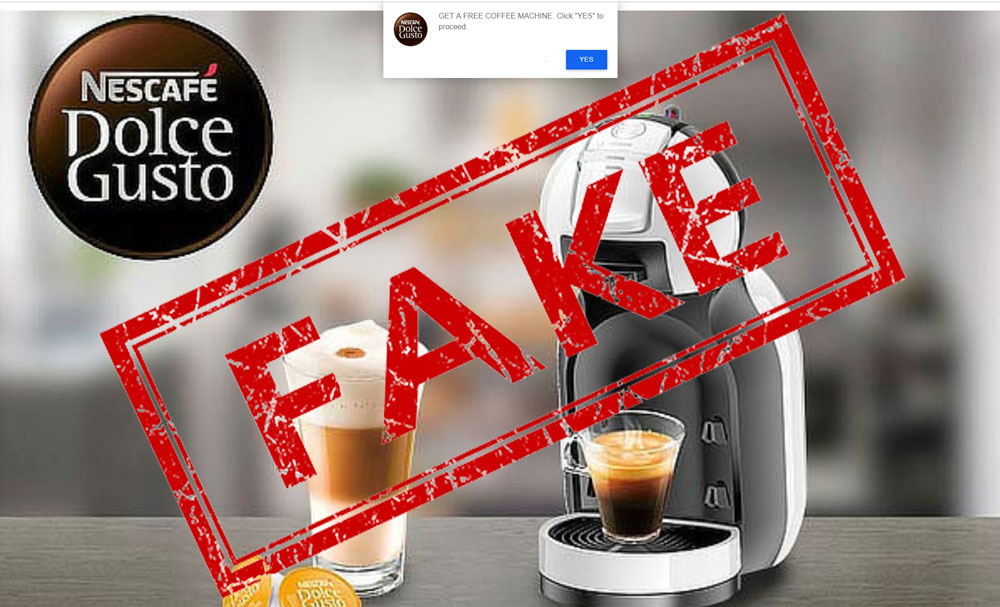 Fake News: Nescafe Is Not Giving Away Free Coffee Machines For Testers photo