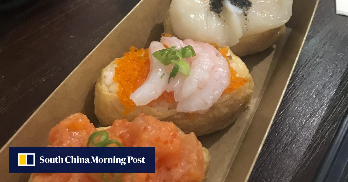 Bean Curd Sushi, Bento Boxes And Rice Balls For Less Than Us$7 At Hungry Dino In Causeway Bay photo