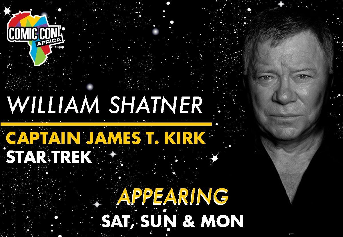 William Shatner To Appear At Comic Con Africa 2019 photo