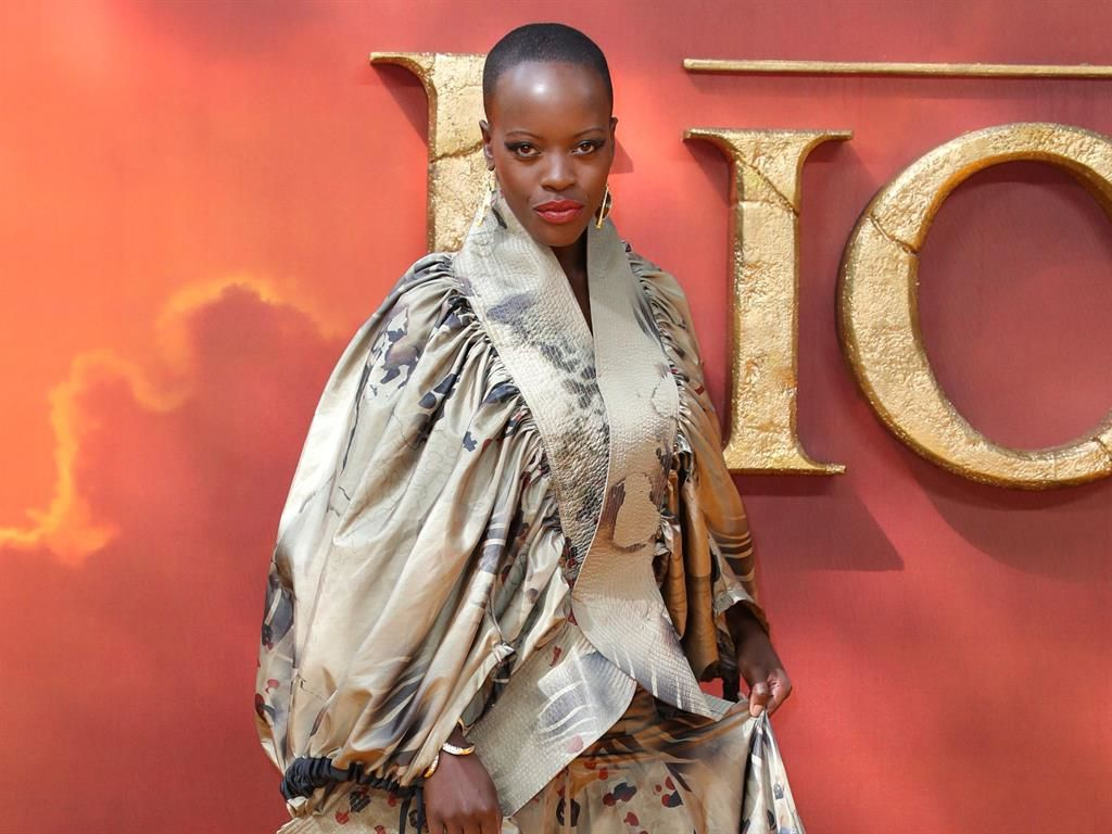 Florence Kasumba Rocks David Tlale Outfit At The Lion King Premiere photo