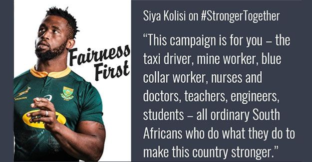 #fairnessfirst: Supersport's Springboks Ad Shows Sa Is Stronger Together photo