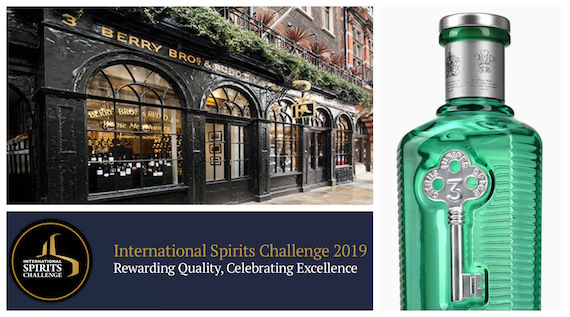 No.3 London Dry Gin Named Isc Supreme Spirit 2019 photo