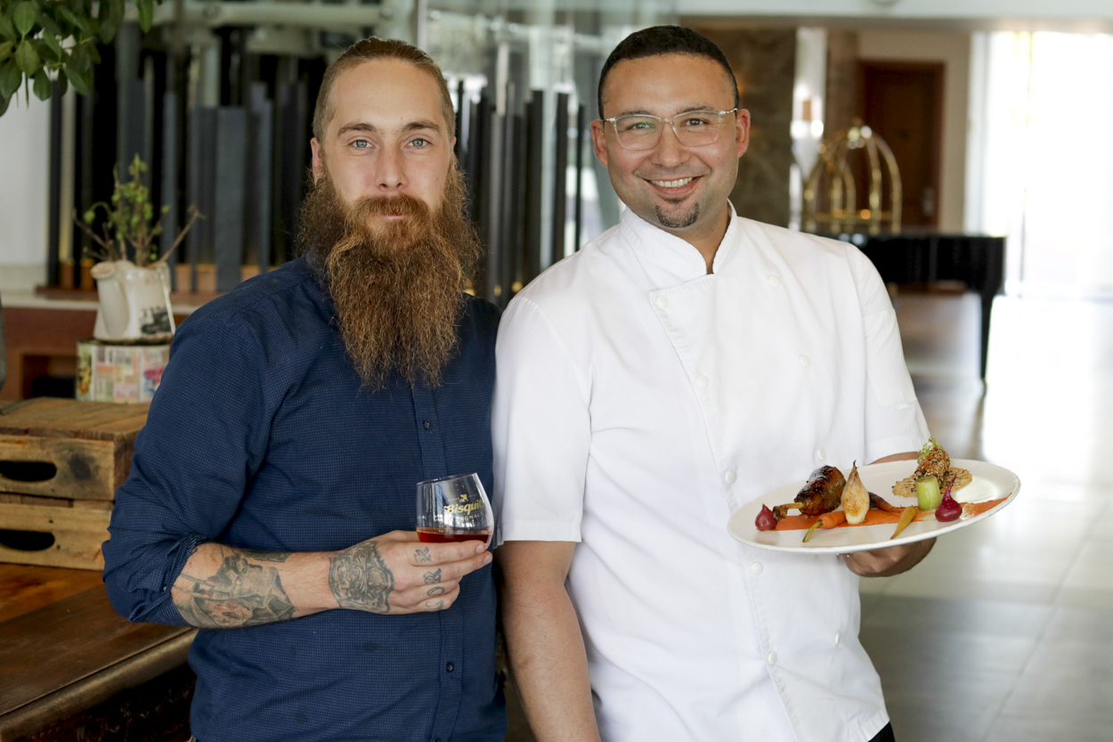 AJ and Chef Grant Radisson Blu Waterfront Introduces Bisquit Cognac Pairing Menu