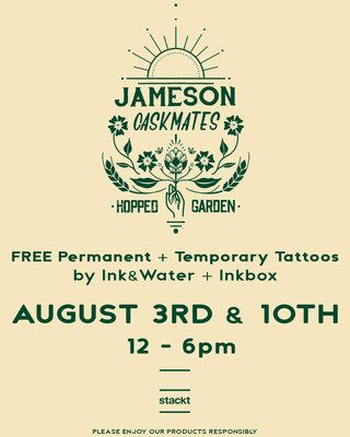Jameson Caskmates Hopped Garden At Stackt Offering Free Tattoos At 'hop Up Tattoo Shop' photo