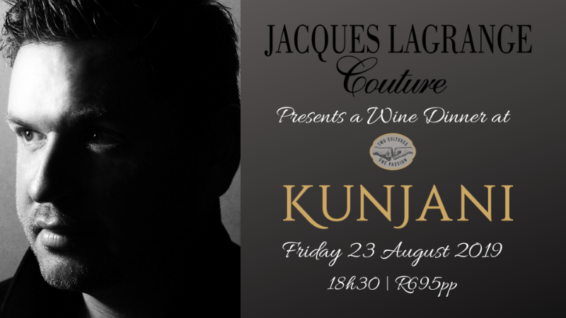 King of Couture Brings Designer Flair to Kunjani Wine Dinner photo