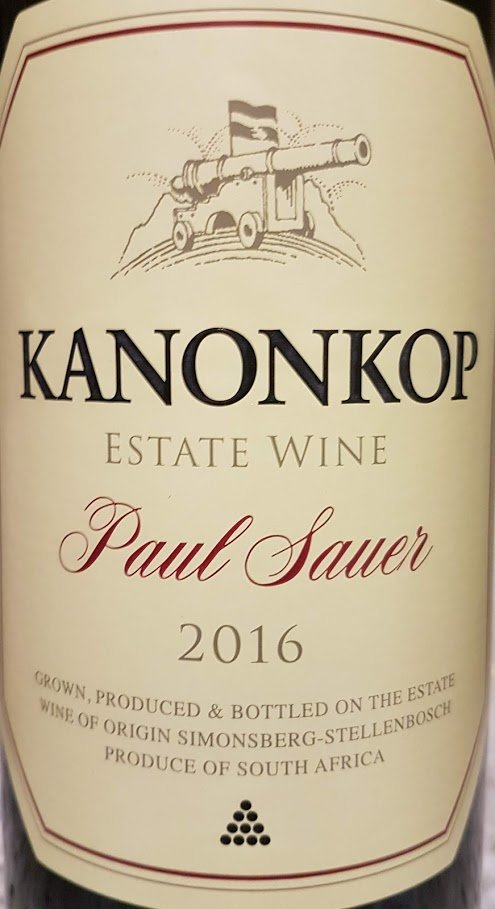 Kanonkop Paul Sauer 2016 photo