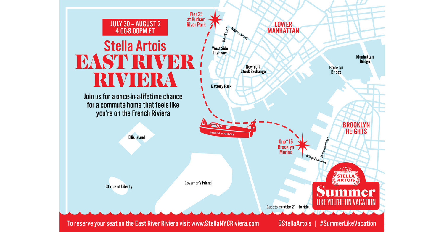 Stella Artois Offers New Yorkers A Once In A Lifetime Luxury Experience By Transforming The East River Into The East River Riviera photo