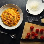 Vegan Tomato And Roasted Mediterranean Vegetable Risotto photo