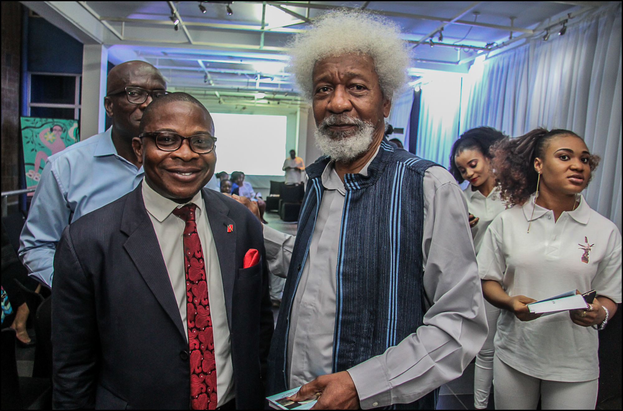 Nero, Vivian Asibelua Host Wole Soyinka To A Wine Auction To Celebrate His 85th Birthday photo