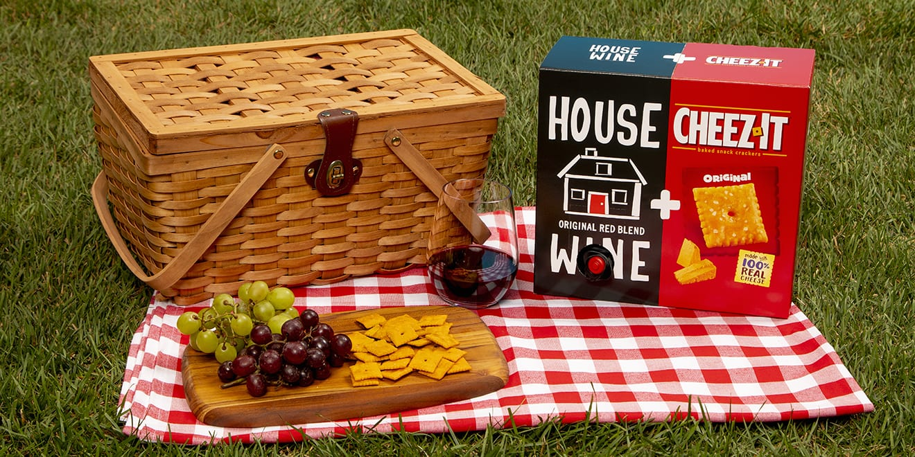 Kellogg Releases Cheese Cracker and Boxed Wine Combo photo