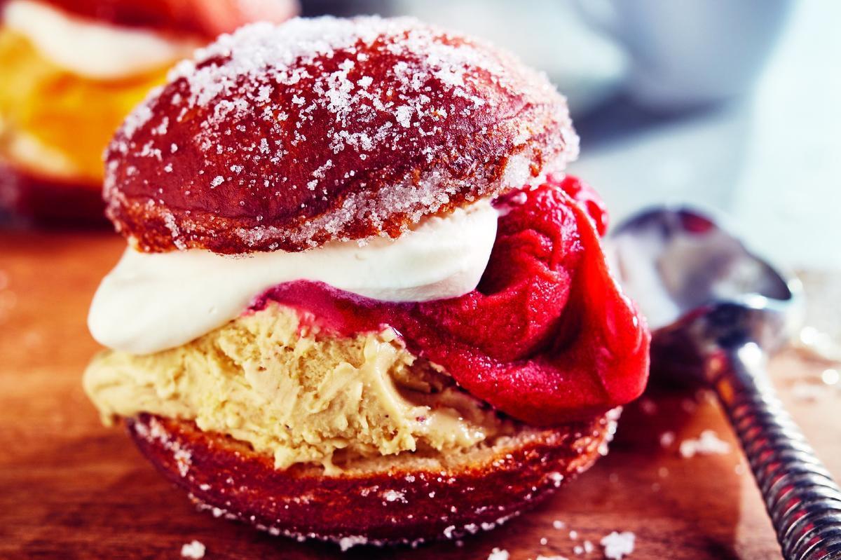 Doughnut Ice Cream Sandwiches Are A Summer Delight photo