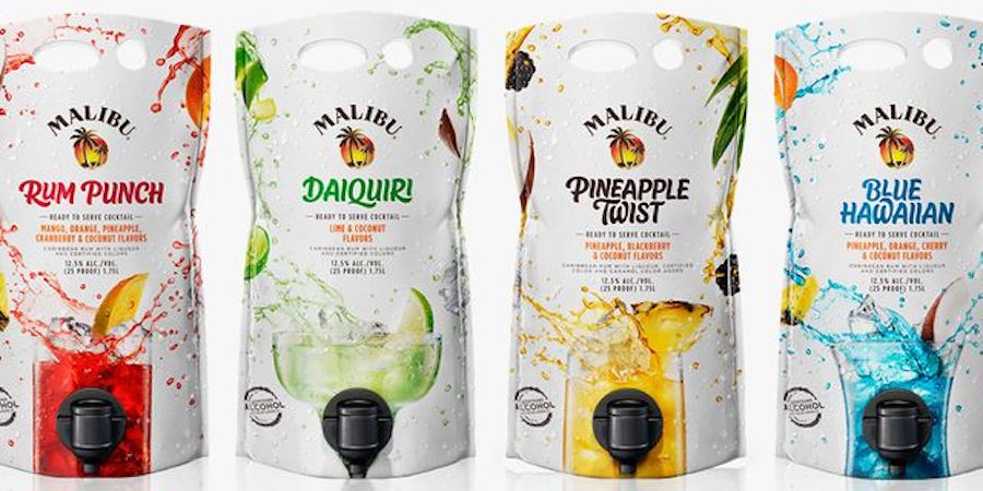 These Malibu Mixed Drink Pouches Are Perfect For Summer Parties photo
