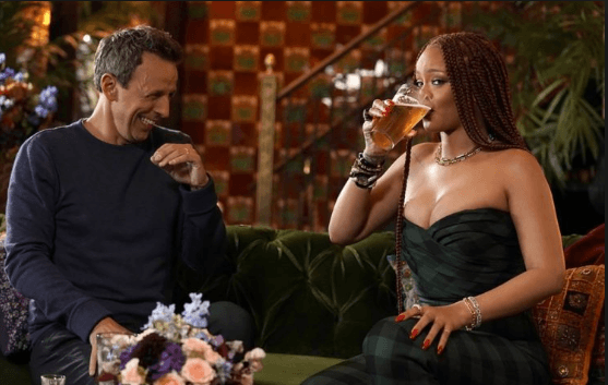 Day drinking with Rihanna and Seth Meyer photo