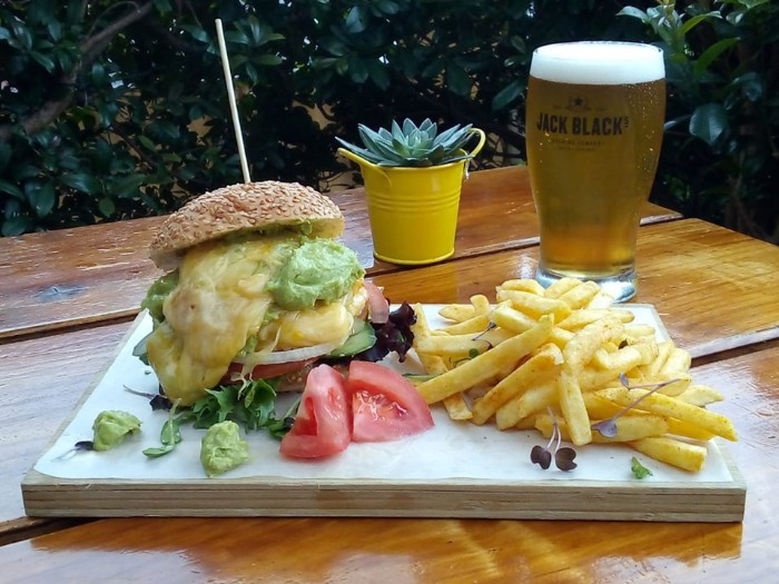 Beer, Burger and Fries photo