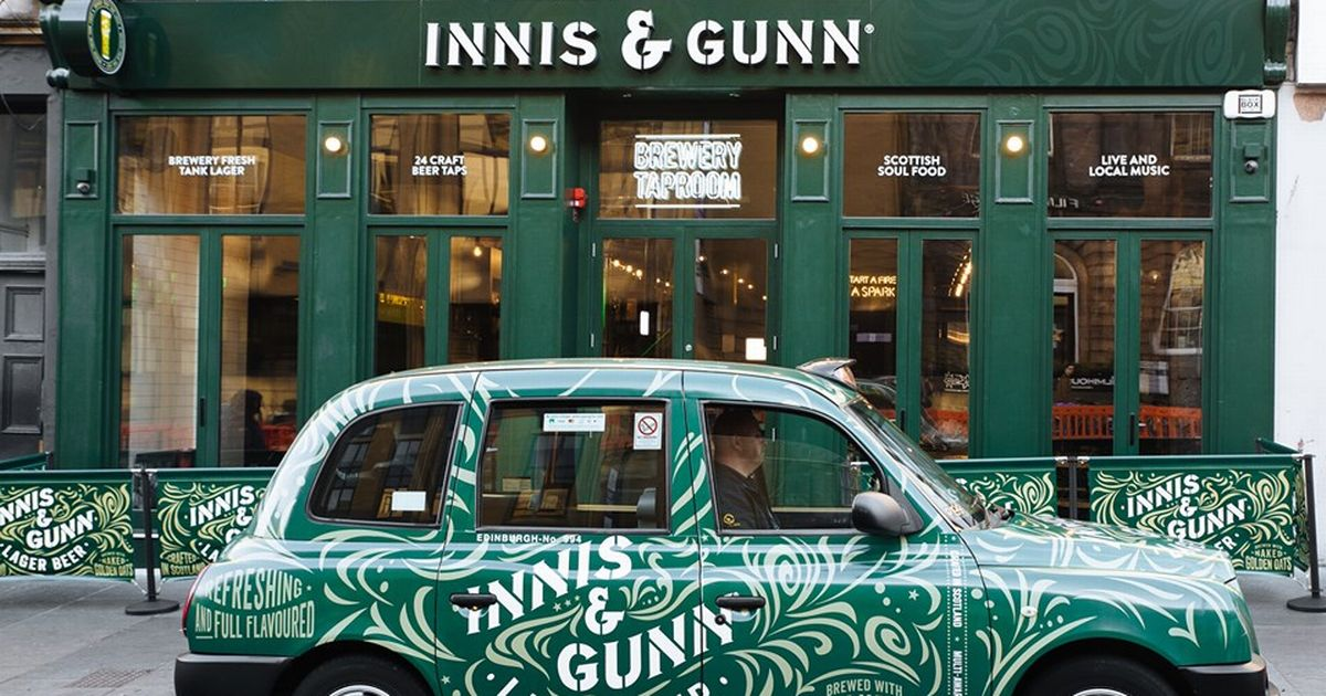 The Innis And Gunn Lager Taxi Is Dropping Off Free Beer Around Edinburgh Today photo