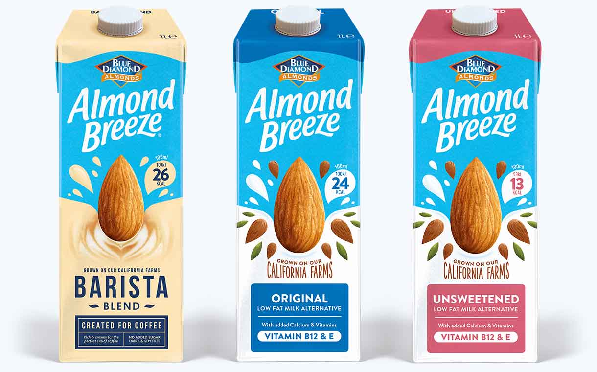 Blue Diamond Introduces New Look For Almond Breeze Range photo
