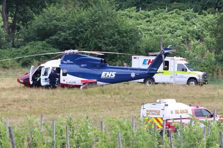 Man Taken To Hospital With Life-threatening Injuries After Crash At Benjamin Bridge Winery photo