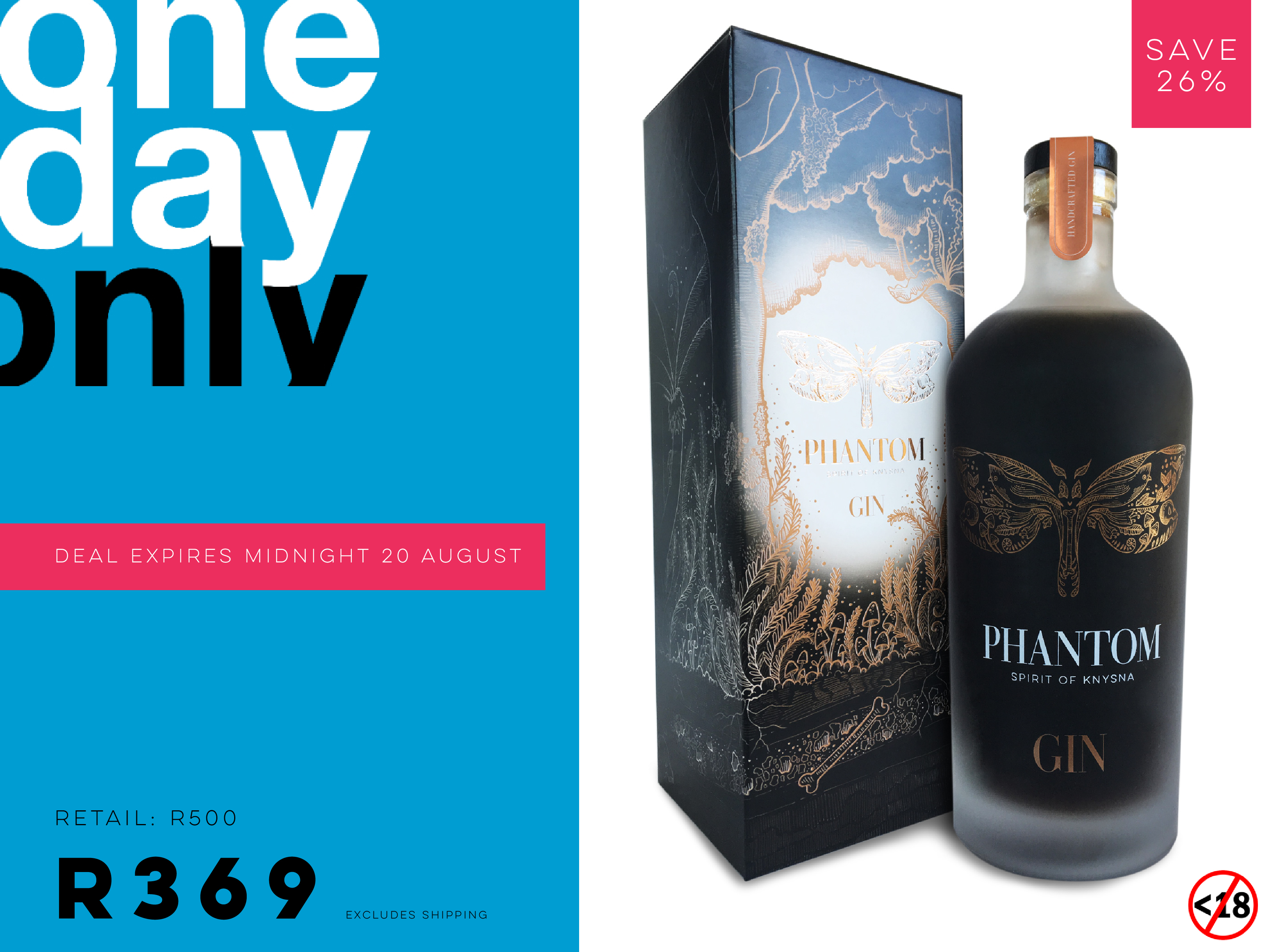 One Day Only Sale On Phantom Gin photo