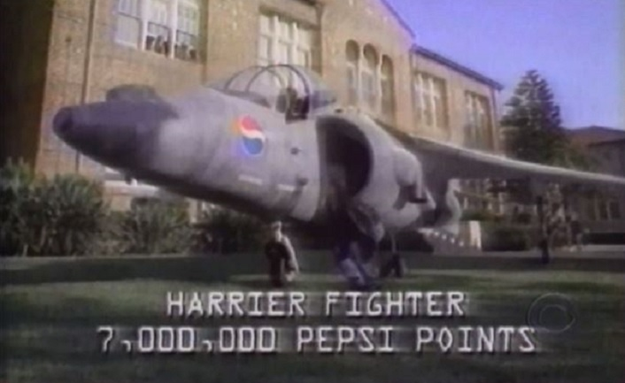 That Time A Man Sued Pepsi For Not Giving Him A Harrier Jump Jet photo